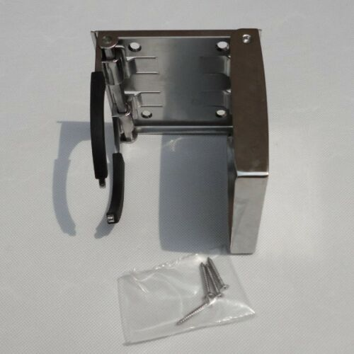 Stock 2X Stainless Steel Adjustable Folding Cup Drink Holder For Boat RV