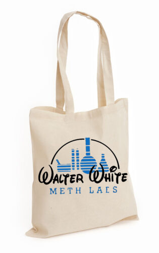 DISNEY,BAG COOK BREAKING 100/% COTTON TOTE MR WHITE METH LABS JESSE BAD INSPIRED