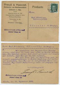 53212-Postkarte-Preuss-amp-Heinrich-Metallwaren-Doebeln-23-9-1927-nach-Loessnitz