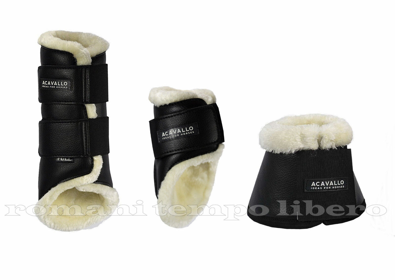 Stinchiere e protezioni ACavallo in pelle e agnellino agnellino e ab5986