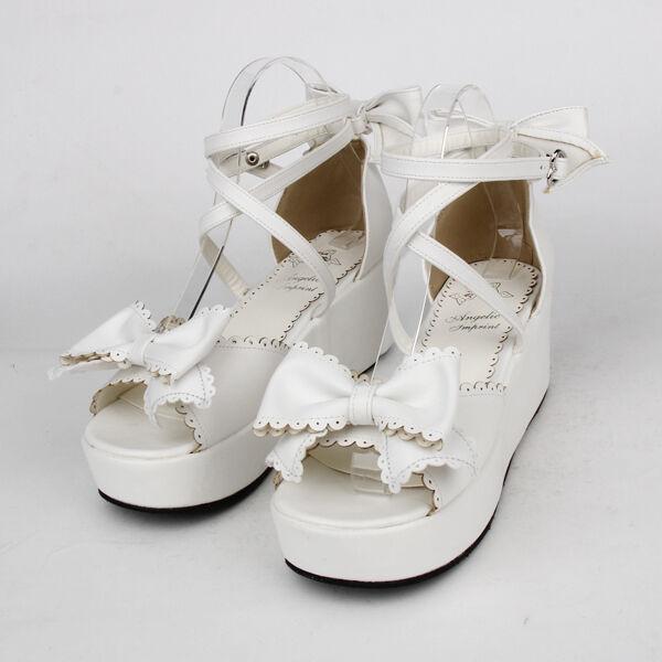 Gothic Goth Sweet Pumps Lolita Schuhe Shoes sandals Sandalen Pumps Sweet Cosplay Kostüm Neu 555793
