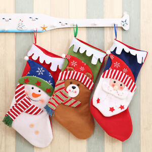 Candy-Bag-Christmas-Tree-Ornament-Stocking-Santa-Claus-Snowman-Sock-Decor-DSUK