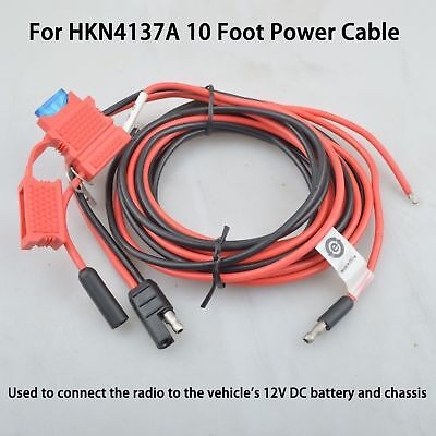 OEM HKN4137A Power Cable for Motorola PM CM CDM XTL XPR MCS Mobile Handheld