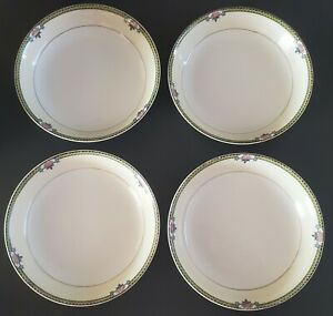 Noritake-M-Alma-Coupe-Soup-Bowls-Set-of-Four-4-Made-In-Japan