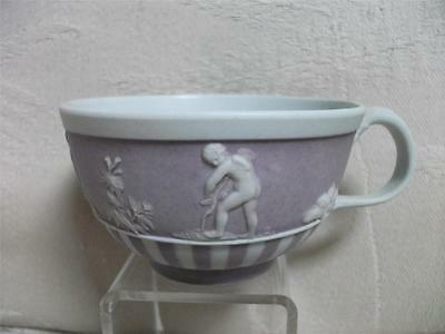 Wedgwood lilac jasper dip 18th century engine turned cup EXCELLENT!!