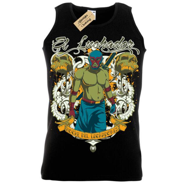 El Luchador T-Shirt Mexican warrior fighter Mens Long Sleeve