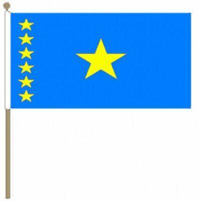 Besorgt Kongo Kinshasa (30.5cm X 45.7cm) Große Hand Wehende Flagge Unterscheidungskraft FüR Seine Traditionellen Eigenschaften