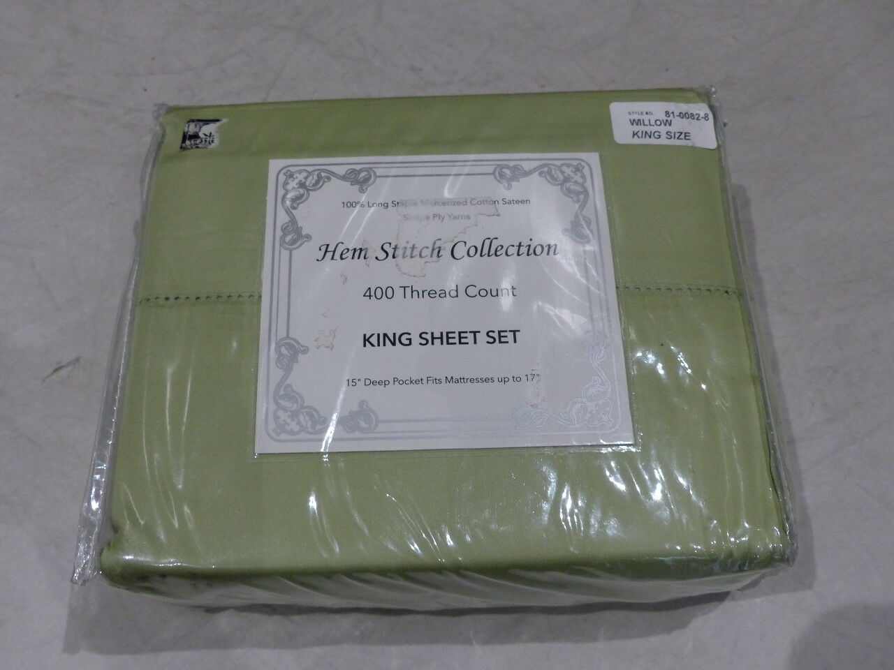 Ourlet Couture Collection 4 Pièce Feuille Set King Vert 98506 81-0082-8