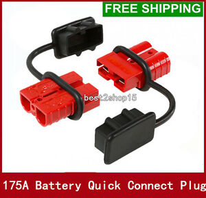 2x 175a battery quick connect wire harness plug disconnect winch image is loading 2x 175a battery quick connect wire harness plug