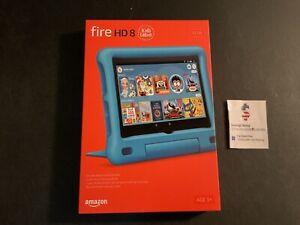 "Amazon Fire HD 8 Kids Edition tablet 32GB BLUE 8"" HD display 10th Gen 2020 NEW"