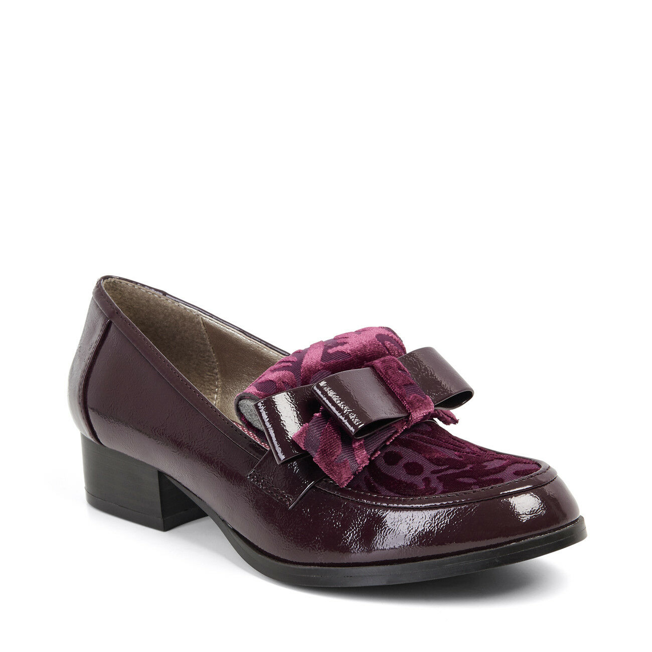 NEW Ruby Shoo Gabriella Flat Loafer Black Navy UK3-9 UK3-9 UK3-9 EU36-42 5d7265