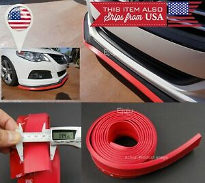 "1.3/"" Red Carbon Fiber Look EZ Fit Bumper Lip Splitter Chin Trim For Toyota Scion"