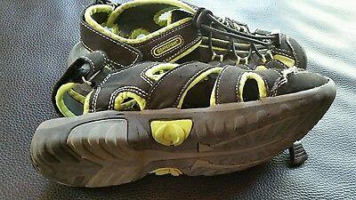 Trekkingsandalen Sandaletten Gr. 35 von Superfun schwarz neongrün