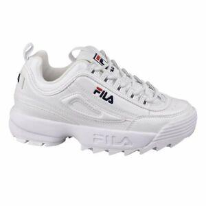 Detalles de Zapatillas Fila Disruptor P Low Wmn Blanco Mujer