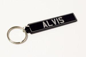 Alvis-Keyring-Brushed-Chrome-Effect-Classic-Car-Keytag-Keyfob