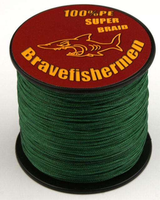 Dark Green Dyneema Spectra Fishing Braid Line 100M/300M/500M/1000M Braided