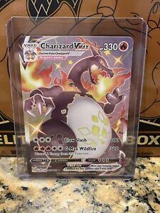 Pokémon Shiny CHARIZARD VMAX Shining Fates SV107/SV122 *Possible PSA 10*