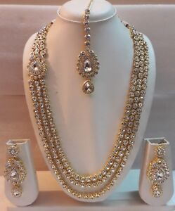 Indian-Bollywood-Fashion-Wedding-Traditional-Gold-Plated-Bridal-Ethnic-Jewelry