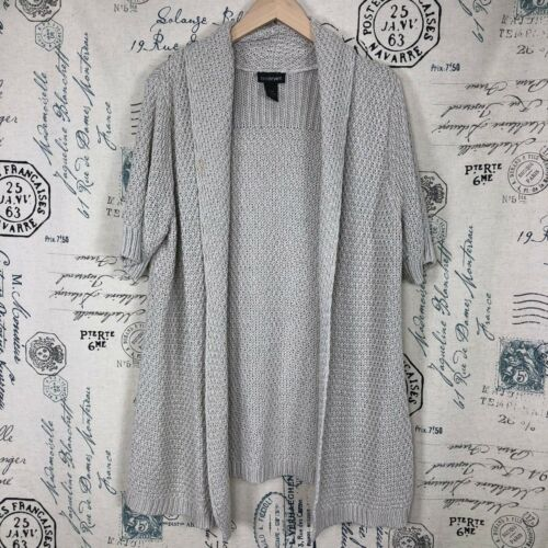 Lane Sweater 14 Knit Xl Cardigan Bryant Large Manica 16 Beige Cream Sz corta twaXw