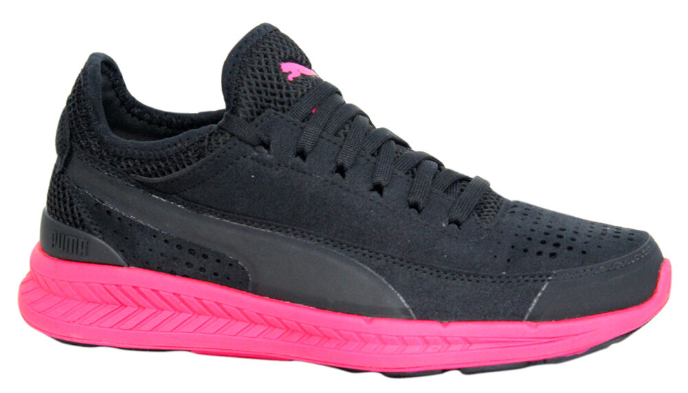 Puma Ignite Sock Knit Femme Lace Up noir rose Femme Knit Trainers chaussures 360571 05 P2 726120