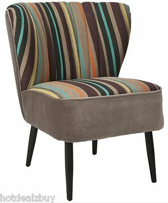 Modern Wood Accent Chair Fabric Armless Living Room Bedroom Lounge Chaise Side