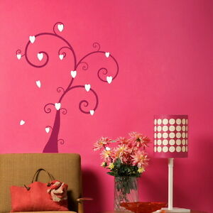 Heart-amp-Leaf-Tree-Wall-Transfer-Art-Decor-Graphic-Big-Tree-Wall-Sticker-TR7