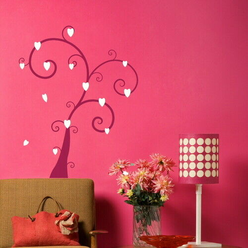 TREE WITH HEART LEAF NICE WALL DECAL ART STICKER TR7