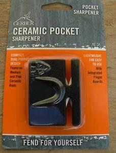 2-X-Gerber-Hunting-Ceramic-Pocket-Sharpener-Knife-2-Stage-Course-Fine