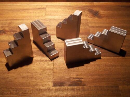 1x Treppenbock Stufenbock Spannunterlage für M6 Alu Spannpratze CNC gefräst