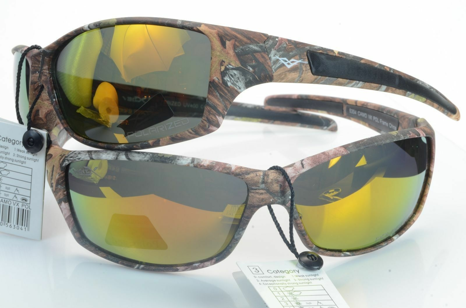 Camouflage Polarized Fishing 56304 Sunglasses Hunting Outdoor Yellow Sport Vertx PukZXOi