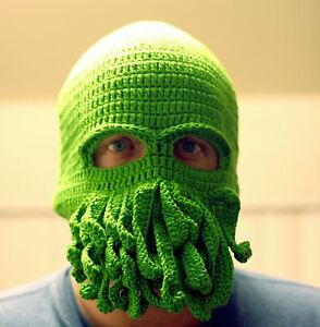Octopus Hat Squid Tentacle Ski Mask Wool Knit Cosplay Winter Cthulhu ... 0251172d9d0