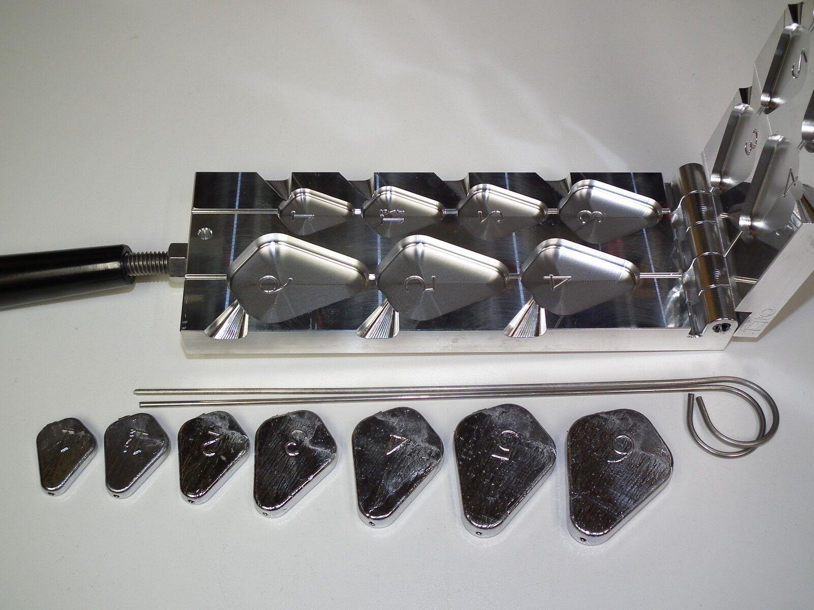 Saltwater No Roll Slip Sinker mold 1-6oz CNC Aluminum Fishfinder Catfish