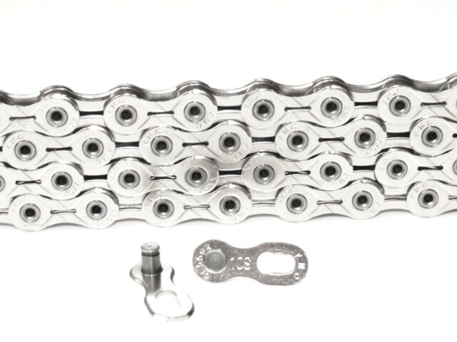 Silver//White KMC X10 chain,112 link with Missing Link
