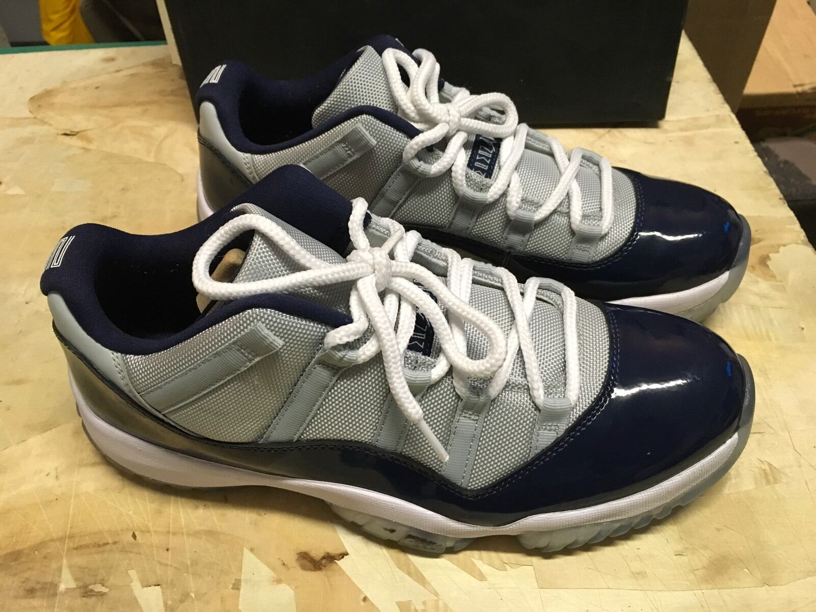 VNDS MENS NIKE AIR JORDAN 11 RETRO LOW GREY MIST MAX 528895 007 SZ 11 MAX MIST AIR FRE 523c2f