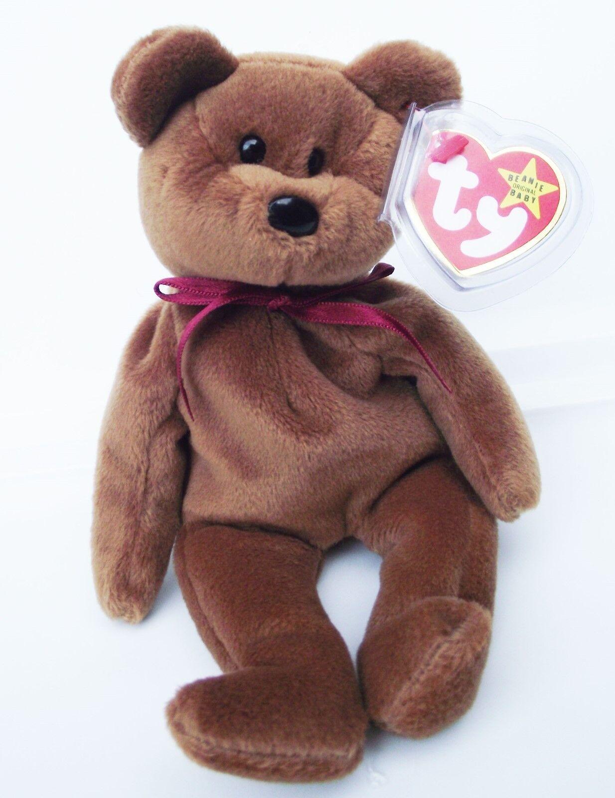 Ty beanie baby teddy   4050 pvc - 4. gen hängen und hintern tag 1993 im neuen
