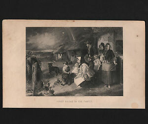 OPC-1800-039-s-Vintage-Illman-Brothers-Engraving-034-First-Break-in-the-Family-034