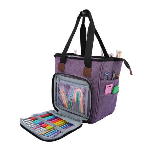 Portable Knitting Sewing Needles Holder Storage Bag Organizer Yarn Tote Durable