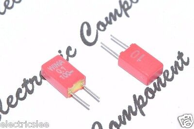 4pcs-WIMA MKS02 0.1uF (0,1µF 100nF) 100V 10% pitch:2.5mm Polyester Capacitor