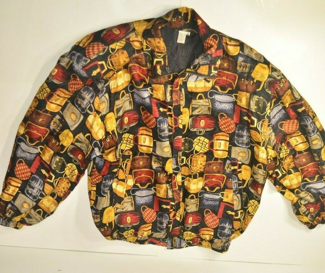 VINTAGE Fuda International Women's 100% Silk Jack… - image 1