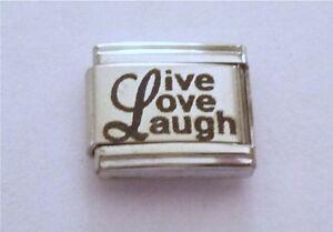 9mm-Italian-Charms-L75-Live-Love-Laugh-Fits-Classic-Size-Bracelet