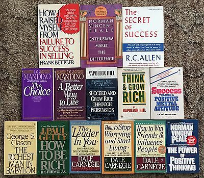 Lot of 14 Books About Success Leadership & Wealth ~ Self-Help Motivational PB