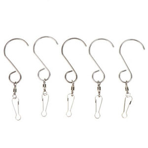 5x-Multifunction-Spinning-Swivel-S-Hooks-for-Wind-Chimes-Accessories-YF