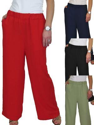 Soft High Waisted Wide Leg Palazzo Lounge Trousers 12-22