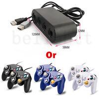 2 X Nintendo Smash Bros Gamecube & Wii Controllers + Wii U Adapter Converter Us