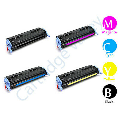 1 Magenta No-name Compatible Color Toner Cartridge 124a Q6000A Q6001A Q6002A Q6003A for HP Color Laserjet 1600 2600n 2605 2605dn 2605dtn CM1015 CM1017 Laser Printer