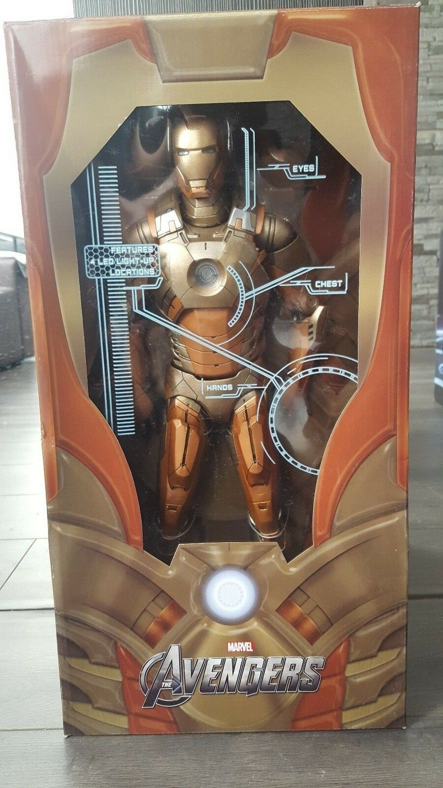 NECA AVENGERS IRON MAN MIDAS gold ARMOR 18  in. 1 4 Scale
