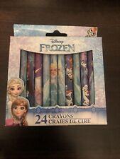 Disney Princess Frozen 24 Pack Crayons Anna Elsa Olaf Colour Crayon Set