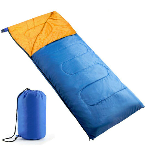 Single Adult Camping Sleeping Bag Envelope with Travel Carry Bag Festival Tent