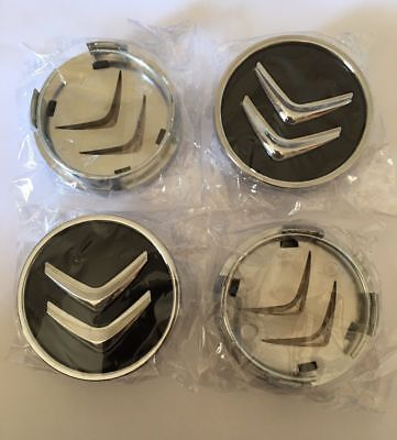 4 x/60 mm Hub Platform Grey Chrome Logo Citroen Logo Alloy Wheel Cover
