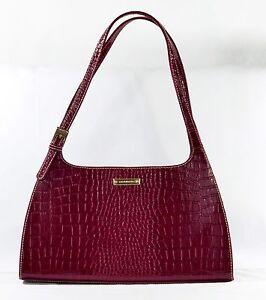 Boutique en ligne 10797 d0c1e Details about Liz Claiborne Women's Bag Purse Handbag Red Patent Crocodile  Leather